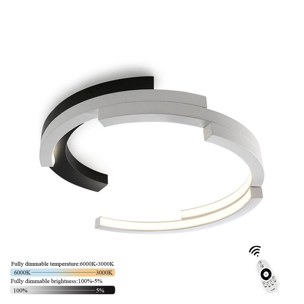 LED Deckenleuchte Wohnzimmer I CBJKTX Deckenlampe dimmbar mit der Fernbedienung 2700k-6500k Ø40cm Wohnzimmerlampe modern Kronleuchte Esszimmerlampe Schlafzimmerlampe Flurlampe Badlampe (40cm)