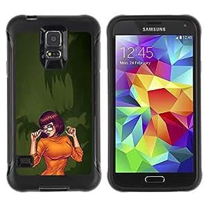 Suave TPU GEL Carcasa Funda Silicona Blando Estuche Caso de protección (para) Samsung Galaxy S5 V / CECELL Phone case / / sexy orange Halloween character cartoon /