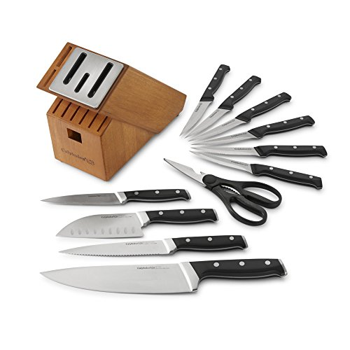 Full Tang Stain - Calphalon Classic Self-Sharpening Cutlery Knife Block Set with SharpIN Technology, 12 Piece