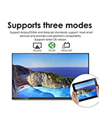 4K WiFi Display Dongle TV cast Wireless HDMI Adapter 4K&1080P TV Receiver Adapter Streaming Media Player Airplay Dongle Mirroring Screen from Phone to Big Screen Support Ezmira Miracast Airplay DLNA T