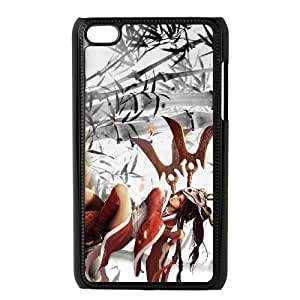 iPod Touch 4 Case Black League of Legends Blood Moon Akali OIW0406888