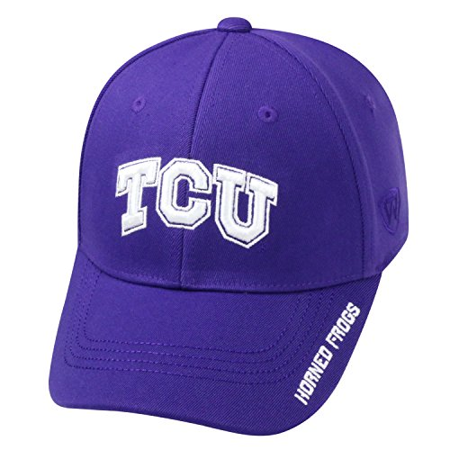 (Top of the World NCAA-Premium Collection-One-Fit-Memory Fit-Hat Cap-TCU Horned Frogs)