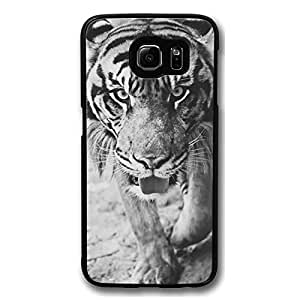 Galaxy S6 Case, S6 Cases, Customize Tiger Shock Absorption Bumper Case Protect S6 Hard PC Black Case Cover for Samsung Galaxy S6