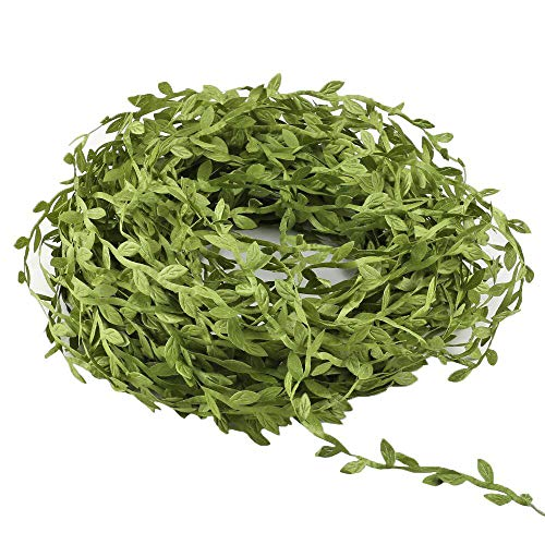 XYXCMOR Artificial Vines132 Ft Greenery Garlands Hanging Eucalyptus Garland Fake Silk Leaves for Wedding Wreath Accessory Wall Crafts Party Decor Light Green]()