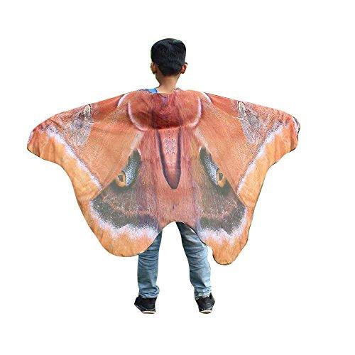 iLXHD Child Kids Boys Girls Chiffon Bohemian Butterfly Print Shawl Pashmina Costume Accessory -