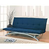 Coaster Metal Futon Frame, Silver Finish