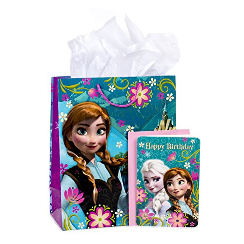 Hallmark Large Birthday Gift Bag with Card and Tissue Paper (Frozen)