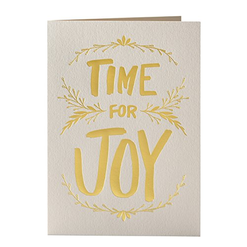 Elum Designs Holiday Cards, Joyful Brush Letterpress (EH394) (Elum Designs)