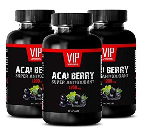 Immune Support Vitamins - ACAI Berry 1200MG - Super ANTIOXIDANT - acai Vitamins - 3 Bottles (180 Capsules) by VIP VITAMINS (Image #7)