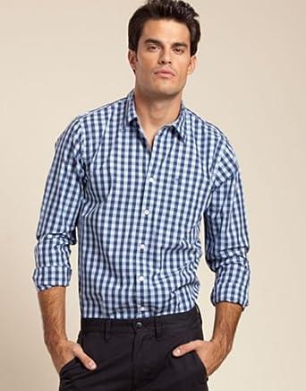 Dockers Camisa Azul Marino/Azul Celeste L: Amazon.es: Ropa y ...