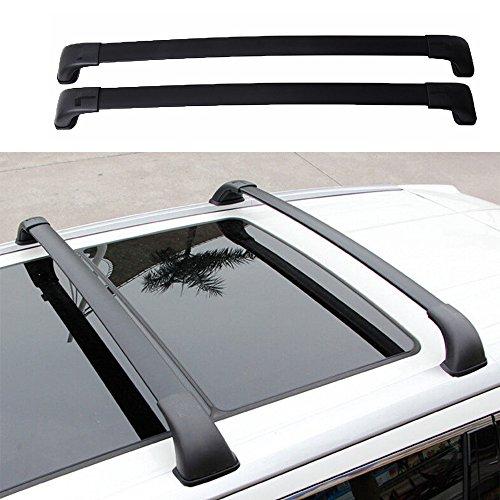 MotorFansClub Top Roof Luggage Carrier Rack Cross Bar Toyota Highlander XLE Limited 2014-2017(Black)