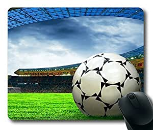 Rectangle mouse pad , Ball Soccer On the Field