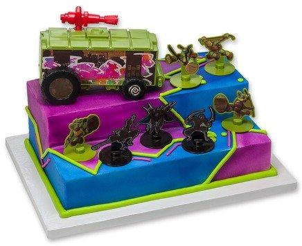 Decopac Teenage Mutant Ninja Turtles Stomp the Foot Signature Cake (Tmnt Cake Decorations)