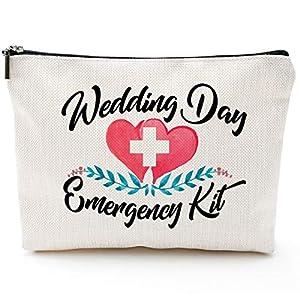 Best Epic Trends 51DEj-IJGYL._SS300_ Wedding Day Emergency Kit Makeup Bag, Bridal Shower Gift, Wedding Survival Kit, Cosmetic Bag,Bride Gifts,Bridal shower…