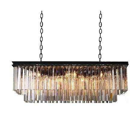 Cristal Lámpara de techo Lámpara de techo araña, E27 Enchufe ...