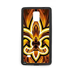 Zyhome Galaxy Note4 Abstract NFL New Orleans Saints Football Logo Case Cover for SamSung Galaxy Note4 (Laser Technology)