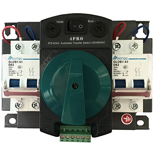 4PRO ATS-63A-2P 50-60Hz Automatic Changeover Transfer ()