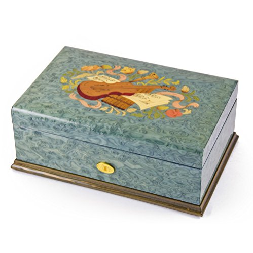 Rhapsody Blue Part (Gorgeous Handcrafted 72 Note Swiss Light Blue Music Theme Inlay Grand Music Box - Hungarian Rhapsody - 3 Parts)