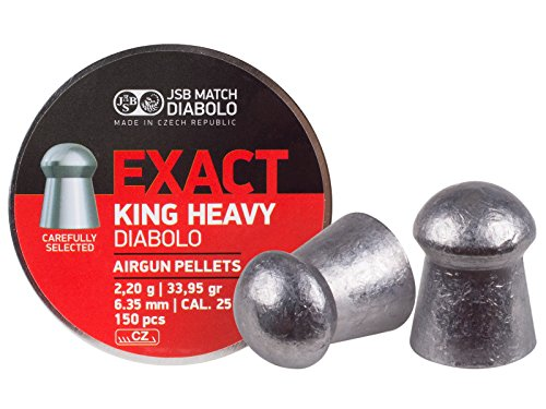 act King MKII Heavy .25 Cal, 33.95 Grains, Domed, 150ct (150 Grain Round Nose)