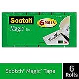 Scotch Brand Magic Tape, 6 Rolls, Numerous