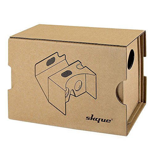 Skque Google Cardboard 2016 Version 2 kit,3D VR Google Carboard Kit 2 Virtual Reality for iPhone 6s/6 Plus/ 6/5s/5c/5 and Galaxy S4/S5/S6 Second-generation Compatible with Android and Apple