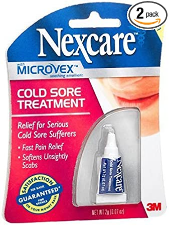 amazon com nexcare cold sore treatment 0 07 ounce tubes pack of 2