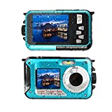 Waterproof Camera Underwater Camera Full HD 2.7K 48 MP Video Recorder Selfie Dual Screens 16X Digital Zoom Waterproof...