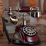 Daao Retro Old Fashioned Rotary Dial Home And Office Telephone