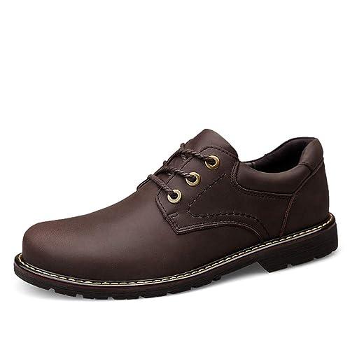 cb485a0494c0c HILOTU Hombres Zapatos Oxford Botas para Caminar Casual Simple Versátil  Punta Redonda Suela Cómoda Zapatos De Trabajo  Amazon.es  Zapatos y  complementos