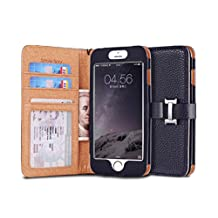 iPhone 6s (4.7) Case, [Snow Fairy] iPhone 6 (4.7) Flip Case [Wristlet Series][Wallet] Cash Pocket - Wrist Strap PU Leather Case for iPhone 6 (4.7) - Special Design ID Slot (IP6-PUL-C-001) iPhone 6s (4.7) ECO Package Dark Blue