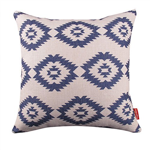 Kingla Home Square Cotton Linen Decorative Throw Pillow Covers 18