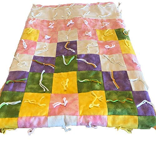 Image of Amish Handmade Patchwork Baby Girl Crib Quilt Pink White