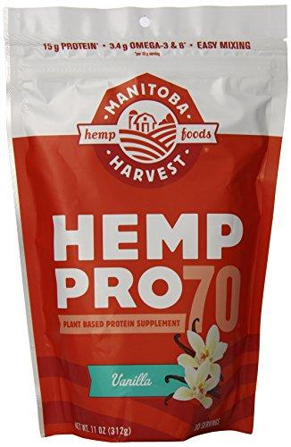 Manitoba Harvest Hemp Pro 70 Protein Supplement, Vanilla, 11 Ounce