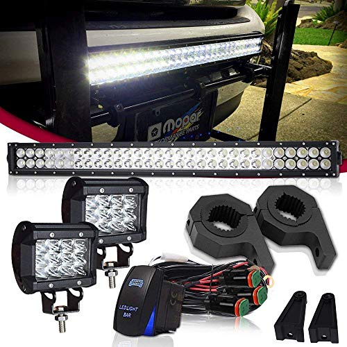 "LED Light Bar TURBOSII 30/32 Inch 180W Spot Flood Combo Driving Lights Off Road Lights Boat Truck Jeep Lamp W/Horizontal Bar Tube Clamp Mounting Kit 1""1.5""1.75""2"" + 4"" 36W LED Cube Work Light"