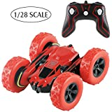 Terresa RC Stunt Car - 1/28 2.4Ghz 360 Degree Rotating Remote Control Off Road Electric Race Double Side Car as Gifts for Kids