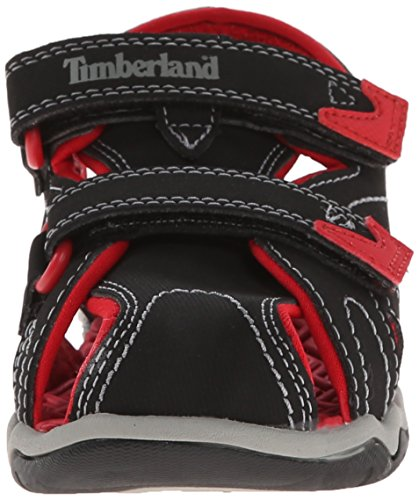 Kid Seeker Toddler Red Timberland M Little T Sandal Dress Black Adventure Closed Toe US Kid 12 Little gUqawU