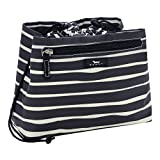 SCOUT Glam Squad Makeup & Cosmetic Bag, Cinch-Top Closure, 4 Open Pockets, Water Resistant, Ren Noir
