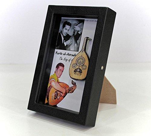 Farid Al Atrash 3D Frame with His Replica Oud by AI
