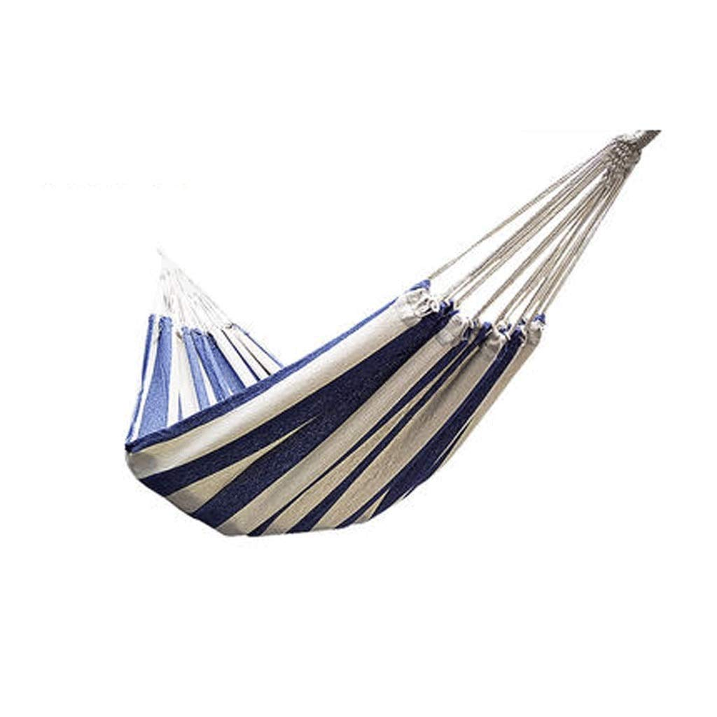 Zhong$chuang Camping Hammock - Lightweight Nylon Portable Single Hammock, Backpack, Camping, Travel, Beach, Courtyard, Best Parachute Hammock Blue and White (Color : C) by Zhong$chuang