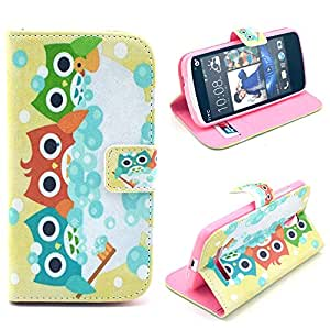 HTC Desire Case,Carryberry 500 case,Beautiful Print, Flip leather, case cover for HTC Desire 500