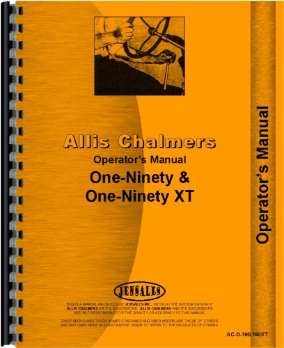 Allis Chalmers 190 Tractor Operators Manual (1964-1972)