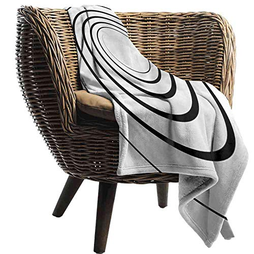 (ZSUO Blanket Spires,Spiral Shape Monochrome Baby Girl Blanket Size:60