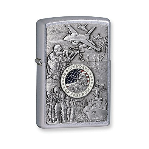 Zippo Defenders of Freedom Street Chrome Lighter by Zippo