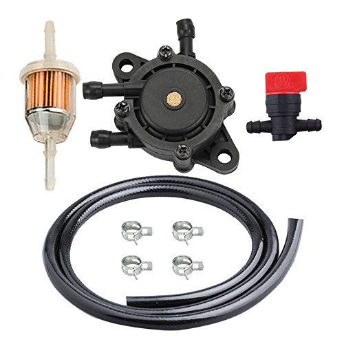 HIPA LG808656 Fuel Pump + AM116304 Fuel Filter Line for John Deere Garden Lawn Mower Tractors
