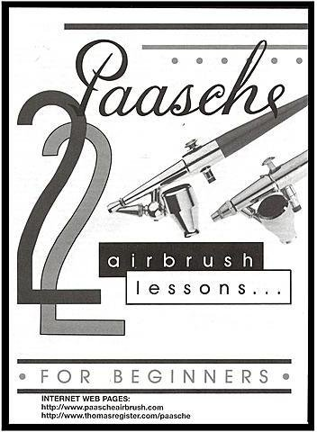 Paasche 22 Airbrush Lessons For Beginners 4 pcs sku# 1841153MA (Airbrush Lessons 22)