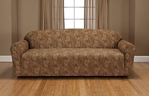 Madison Stretch Jersey Sofa Slipcover, Geometric, Leopard