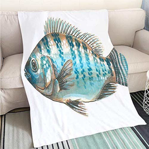 - BEICICI Super Soft Throw Thicken Blanket Nile Perch Fun Design All-Season Blanket Bed or Couch