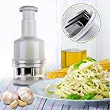 Maylai Onion Slicer Multifunctional kitchen gadget Food Chopper Vegetable Chopper and Slicer Manual Mini Hand Chopper Onion Garlic with Cover for Vegetables Stainless Steel