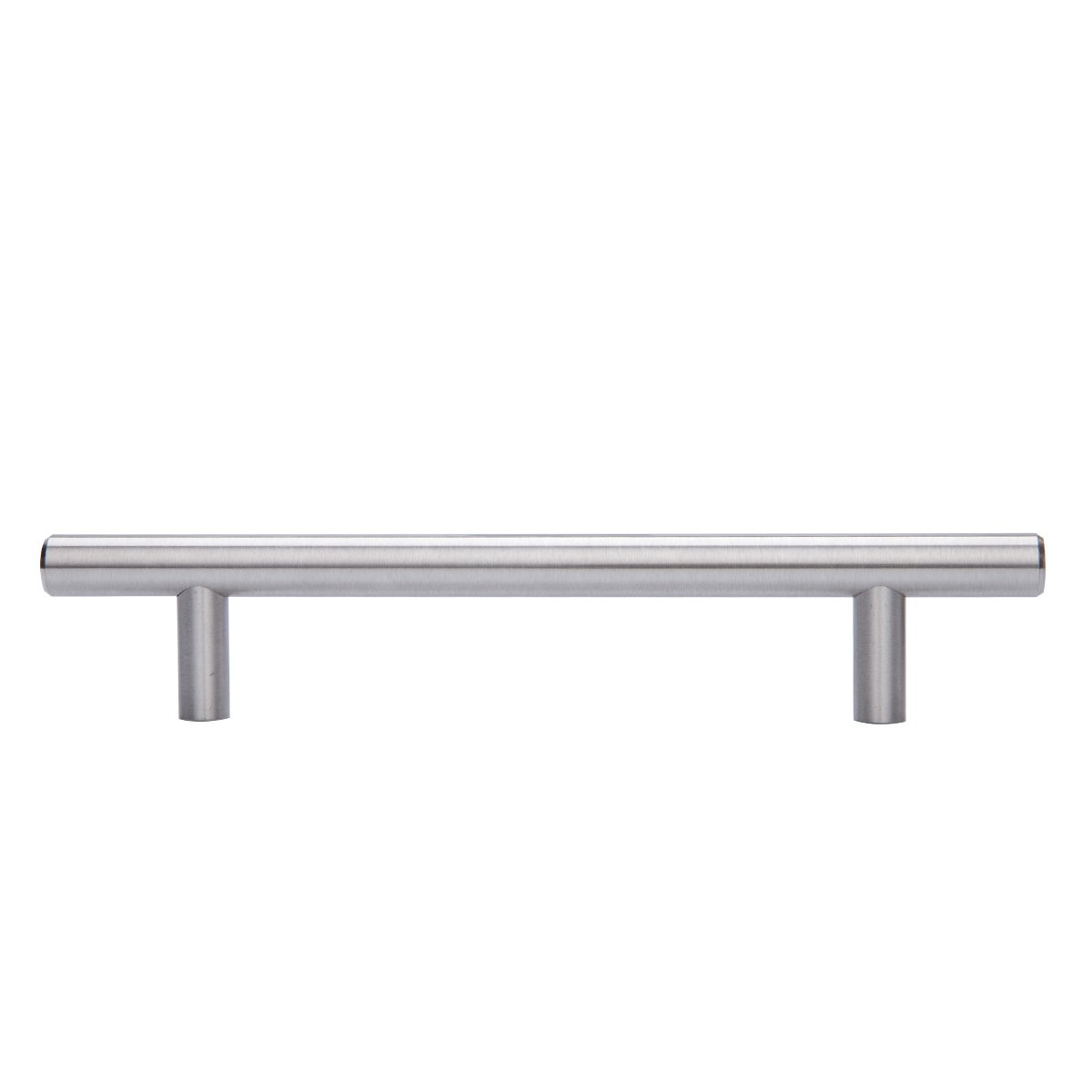 AmazonBasics Euro Bar Kitchen Cabinet Handle 1/2 Inch Diameter, 7.38 Inch Length, 5 Inch Hole Center, Satin Nickel, 25-Pack by AmazonBasics (Image #4)
