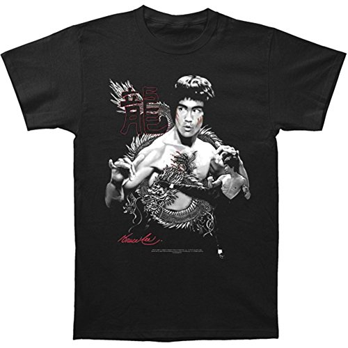 T-Shirt - Bruce Lee-The Dragon Medium, Black - Bruce Lee Dragon T-shirt